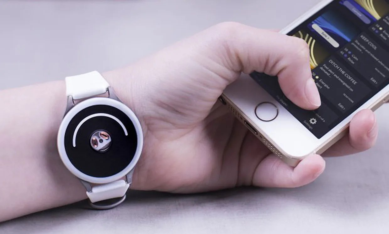 The Doppel gadget on a wrist.