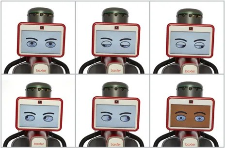 MAKING FACES: Baxter's face provides feedback to users.