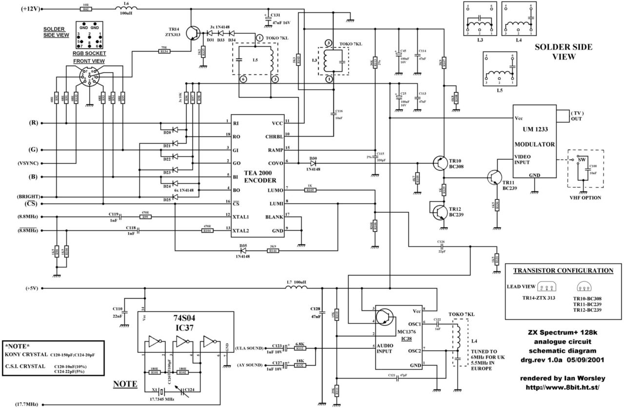 Zx Spectrum Pcb Schematics And Layout