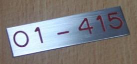 Apartment Unit Number Letter Box Tag