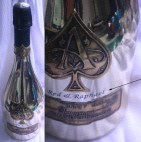 Engrave Personal Name on Gold Plated Glass Champagne Bottle