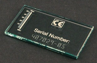 Serial Number Engrave on Glass