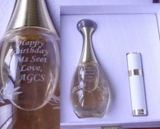 Engrave on Perfume Bottle
