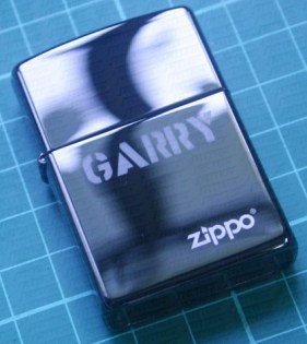 Engrave Text on Zippo Lighter (anodized metal surface)
