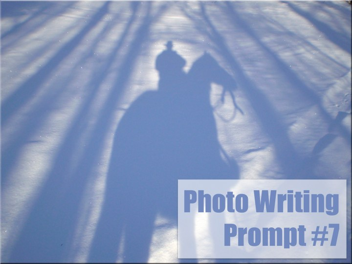 photo writing prompt, winter, shadows