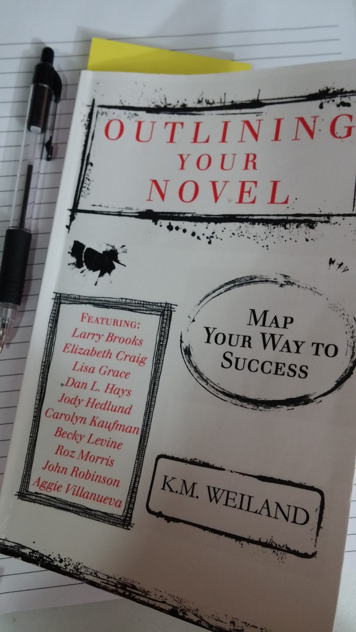 outlining your novel, weiland, writing reference
