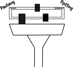 balancing pantsing and plotting