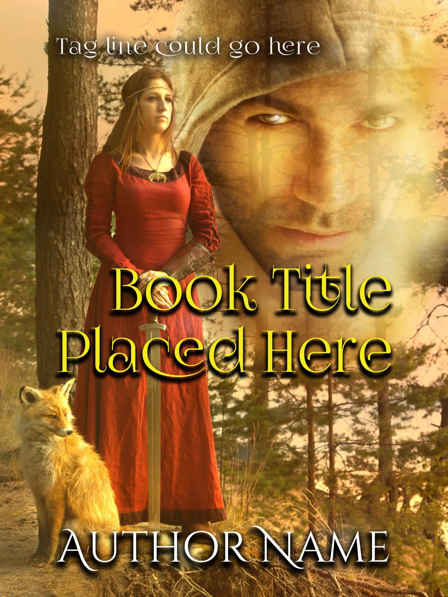 Fantasy Romance with Fox Premade Book Cover