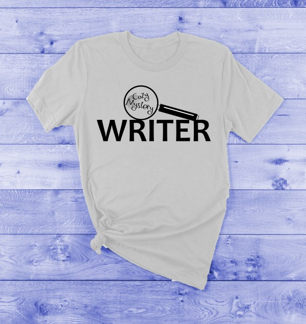 cozy mystery writer t-shirt