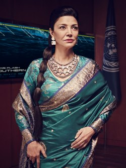 Shohreh Aghdashloo as Chrisjen Avasarala, courtest of SyFy