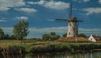 Old windmill in Belgium