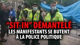DÉMANTÈLEMENT DU « SIT-IN » À QUÉBEC PAR LA POLICE POLITIQUE
