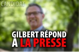 GILBERT THIBODEAU REMET LES PENDULES DE LA PRESSE À L'HEURE