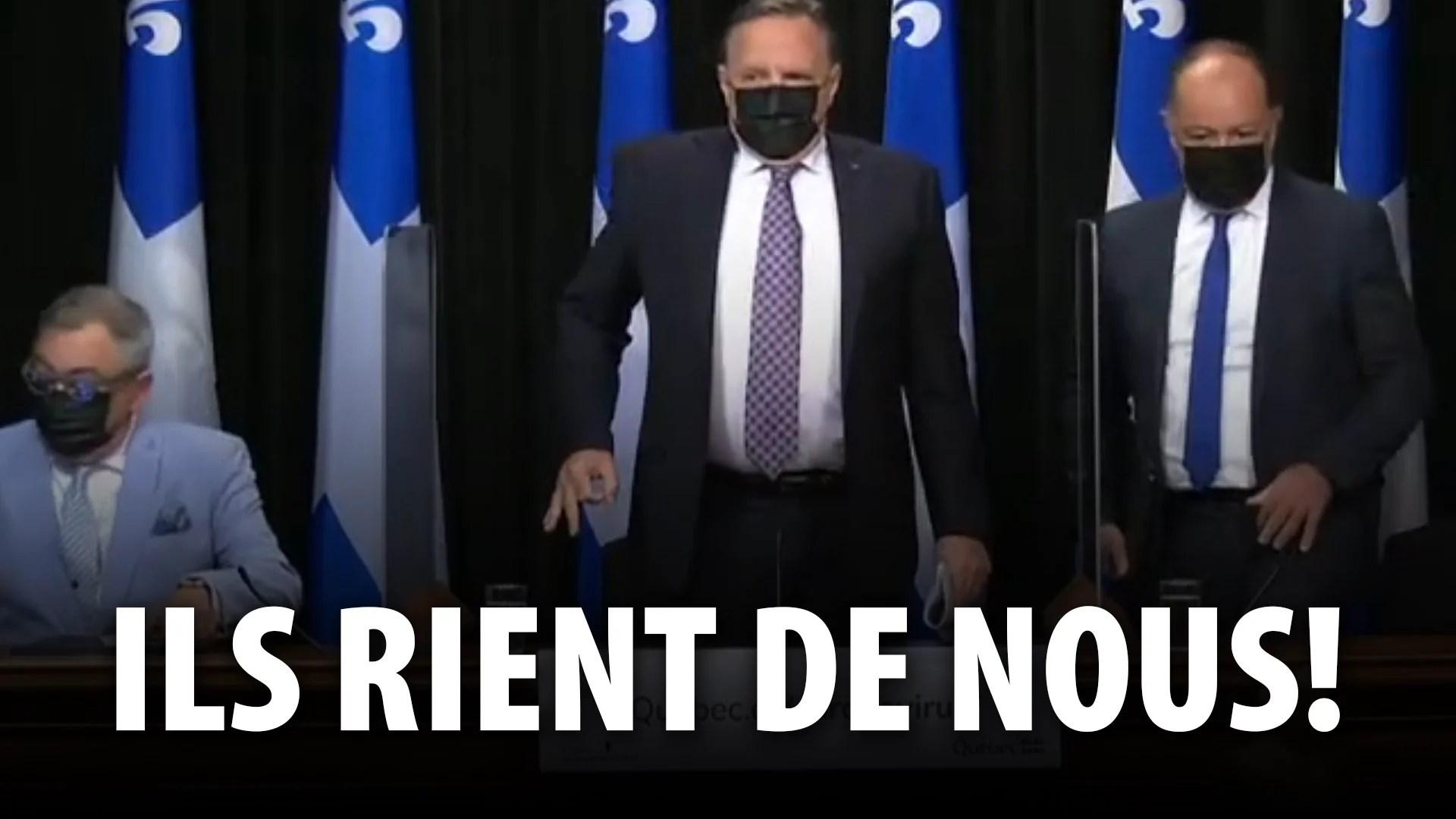 NOS GOUVERNEMENTS RIENT CARRÉMENT DE NOUS!  QUI SONT LEURS MAITRES?