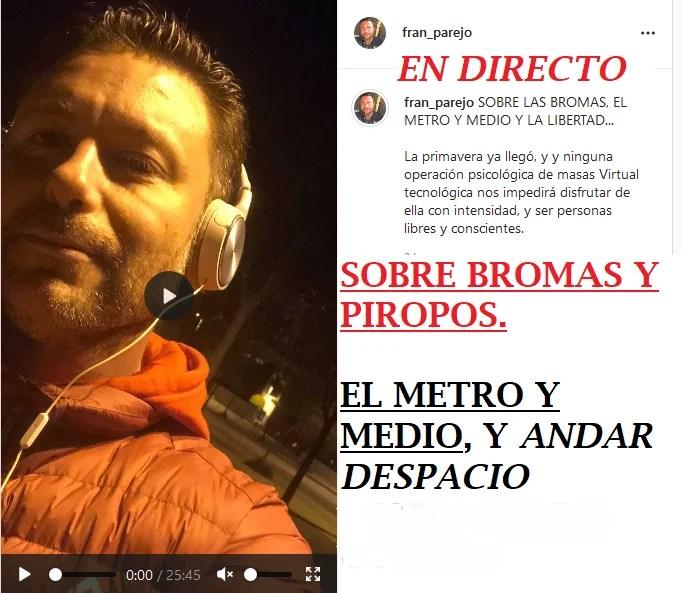 DIRECTO: Sobre las Bromas, Los Piropos, Andar Despacio, el Metro y Medo, y LA LIBERTAD. Un Speech que te va a gustar!