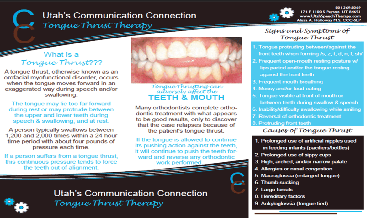 TONGUE THRUST BROCHURE PG 1