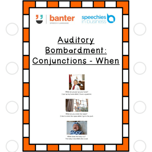 Auditory Bombardment Conjunctions When