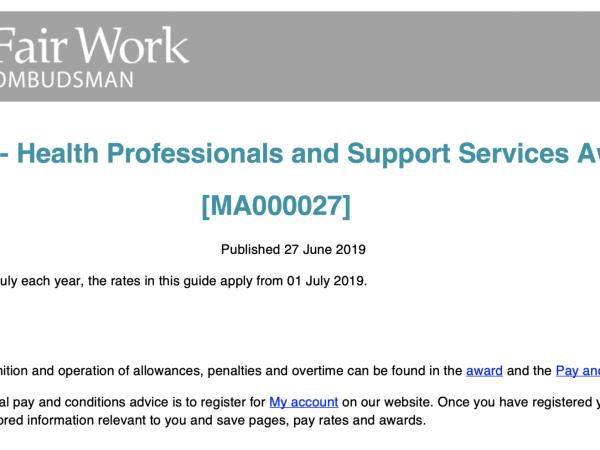 Australian Private Practice Speech Pathologist Employment Agreement