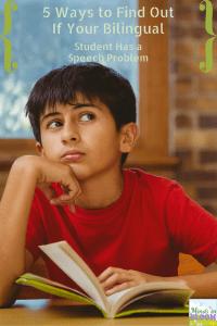 bilingual student speech problem