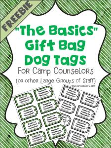 Gift Bag Dog Tags: A fun and affordable gift for large groups of staff!