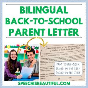 Bilingual Back-to-School Parent Letter