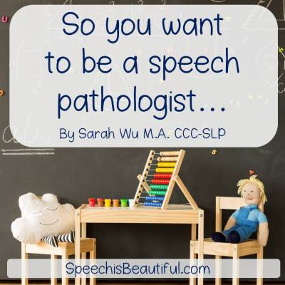 So you want to be a speech pathologist…