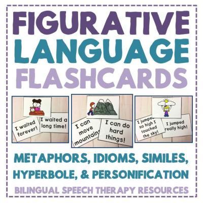 Figurative Language Flashcards: Metaphors, Idioms, Similes, Hyperbole & Personification
