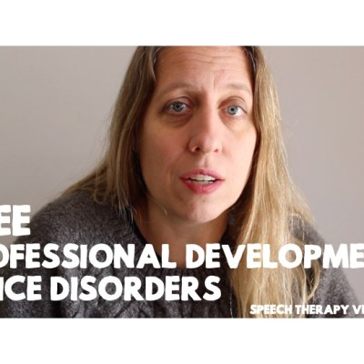 Free Professional Development (for you to present): PowerPoint for Teachers about Voice Disorders