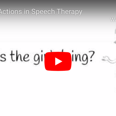 Naming Actions in Speech Therapy: An Illustrated Video