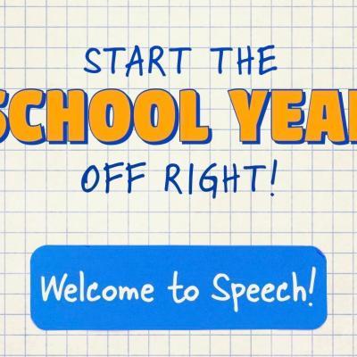 Start the School Year Off Right in Speech