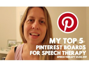 Pinterest for speech therapy