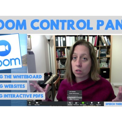 Zoom Control Panel: How to Share and Use the Whiteboard, Share Websites and Interactive PDF