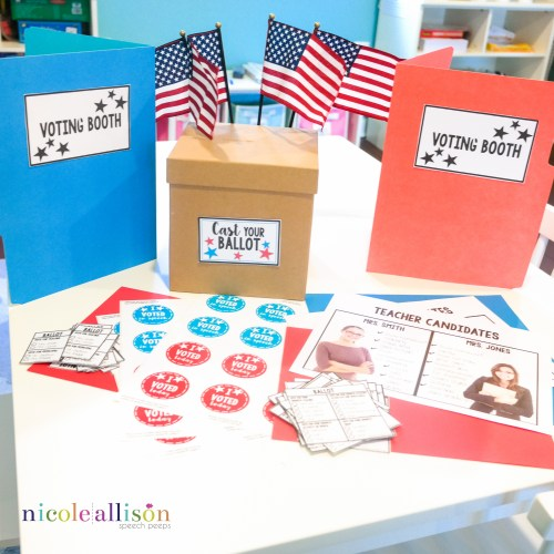Elections in Speech! {Freebies Included}