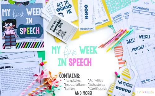 speech bracelet a first week in speech activity speech peeps