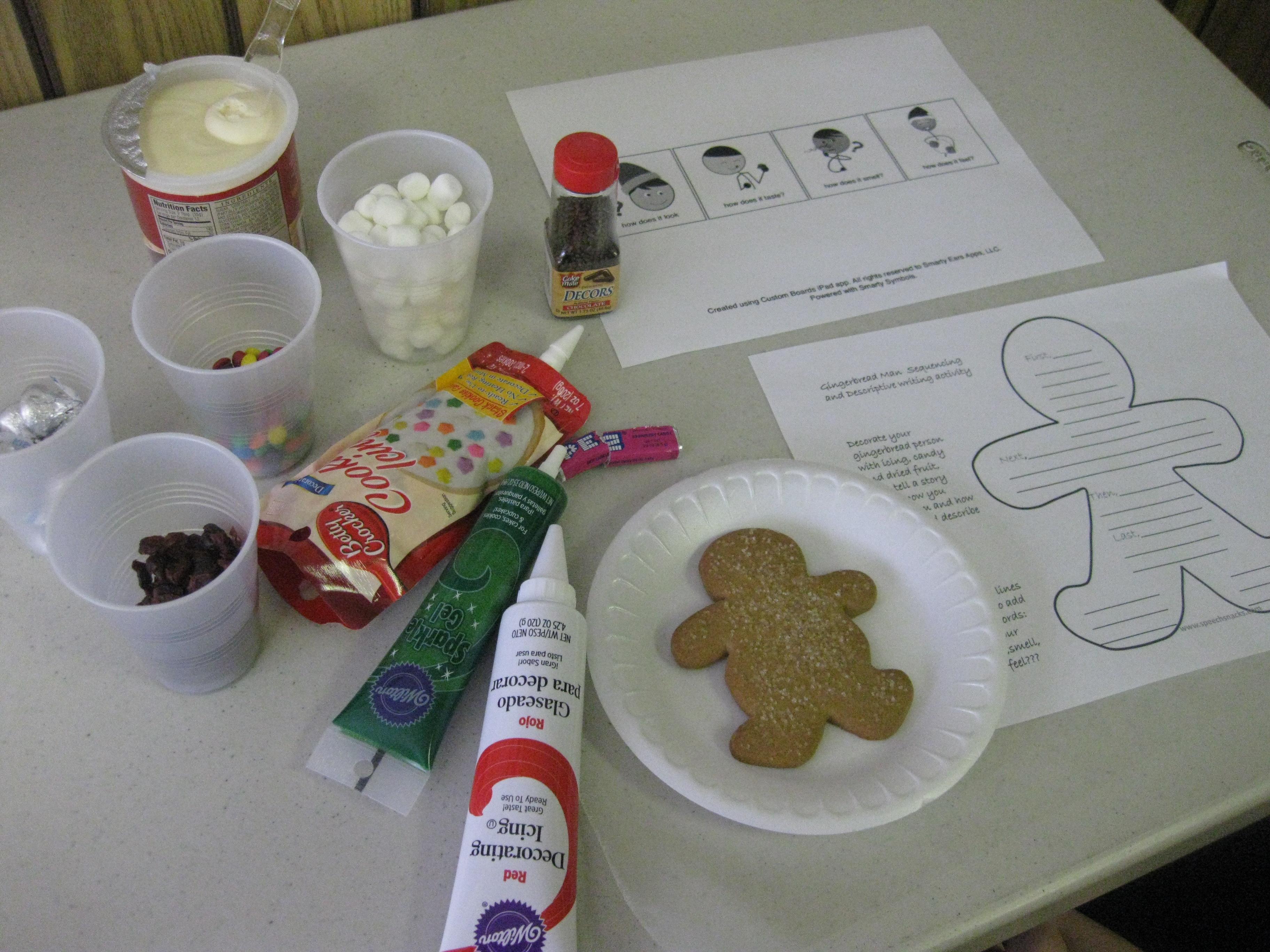 Using Gingerbread Man Cookies To Teach Language Skills