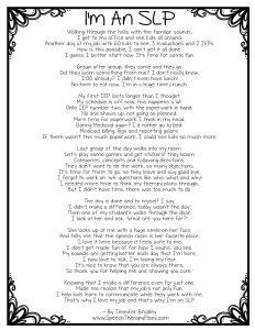 I'm An SLP Poem