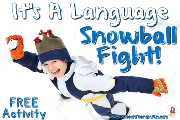 Speech and Language Winter Snowball Fight