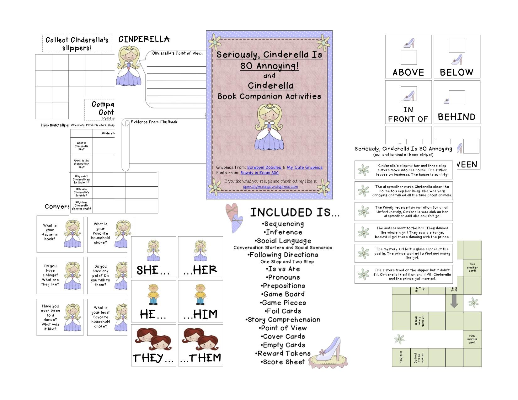 Cinderella Companion Book Activities