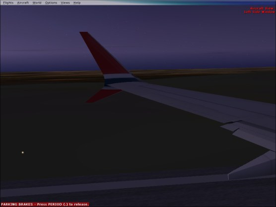 Just before takeoff at SEN.