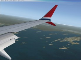 Descending into PWM, with Harpswell Neck in the view.