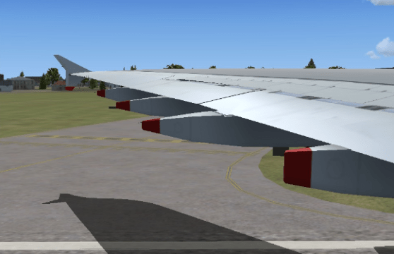 Awaiting Runway 27L departure.