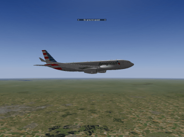Airborne and in cruise mode.