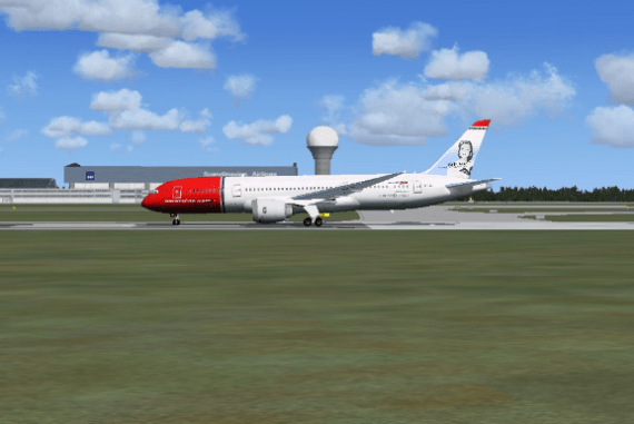 Getting ready to leave Gardermoen.