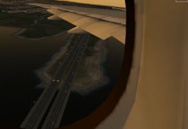Flying over I-295 shortly after takeoff.