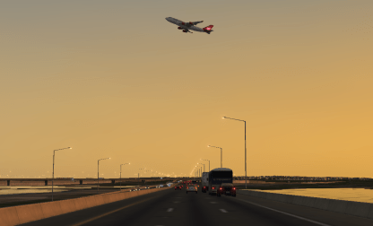 A 747 taking off over I-295...yeah, probably not likely.