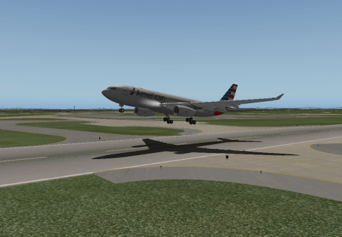 Taking off from KCLT for KBOS on an AAL A332