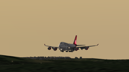 The big bird on approach to Runway 1R.