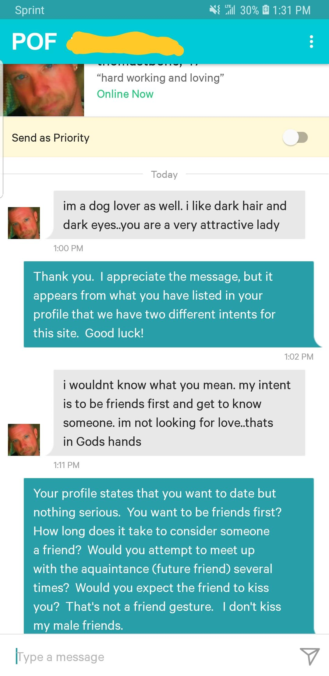 POF : I'm not looking for love    That's in God's