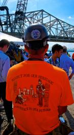 Dean Tharp President of Ironworkers Local 70 at Downtown Bridge Groundbreaking Ceremony