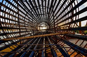HDR Image of an Inside View of a Caisson During Assembly